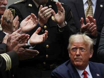 El presidente Trump, la semana pasada en la Casa Blanca.