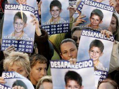 Manifestación por la desaparición de Yeremi.
