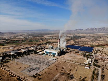 Una planta térmica de la Comision Federal de Electricidad, en San Luis Potosí.