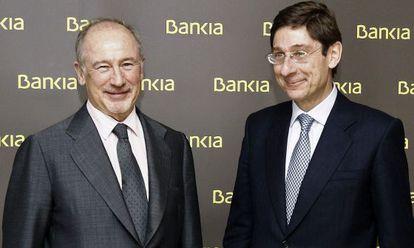 Rato y Goirigolzarri, su sucesor al frente de Bankia,
