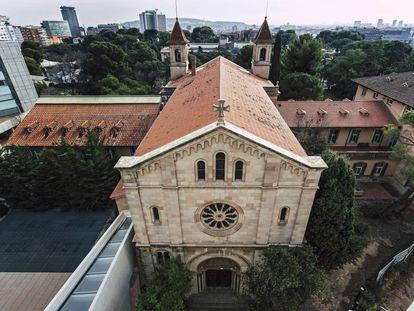 La capilla que alberga el Mare Nostrum en Barcelona.