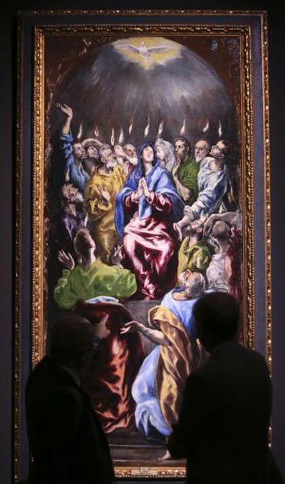 Pentecostés, de El Greco y taller, en el museo de Santa Cruz.