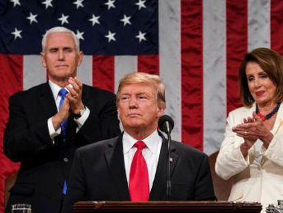 """El presidente estadounidense ataca la """"ridícula investigación partidista"""" sobre la trama rusa en su segundo discurso sobre el estado de la Unión"""