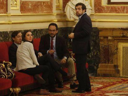 Reunión de portavoces por la comisión de la financiación del PP.