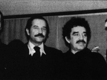 Vargas Llosa, Carlos Fuentes, García Márquez y José Donoso, en los 70.