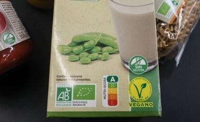 Un producto de Carrefour España con el etiquetado Nutri-Score.