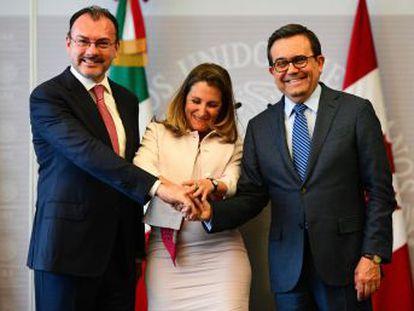 Los titulares de Exteriores de ambos países se reúnen en la Ciudad de México en la víspera del encuentro bilateral entre mexicanos y estadounidenses