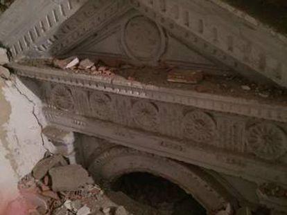 Fragmento de la portada hallada en un domicilio particular de Úbeda (Jaén) hace cuatro años.