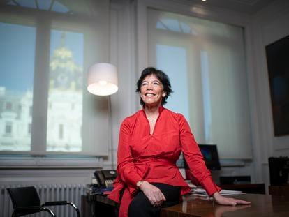 Isabel Celaa, ministra de Educación, el viernes.   Foto: Inma Flores