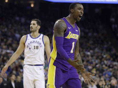 Caldwell-Pope, en un Lakers-Warriors.