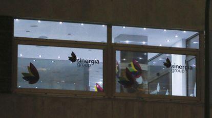 En primer plano, las oficinas de Sinergia. Al fondo, la Torre Picasso.