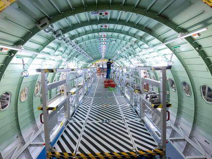 Fábrica de Airbus en Hamburgo, Alemania.