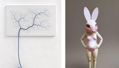 'Ciclotrama 57', de Janaina Mello Landini, en Zipper Galería y 'Wild Life', de Samuel Salcedo, en la Galería 3 Punts.