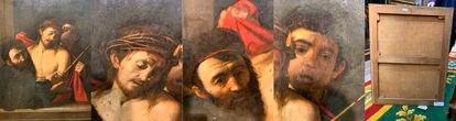 Detalles del cuadro 'Ecce homo', el supuesto 'caravaggio'. Imágenes cortesía de Benito Navarrete, catedrático de Historia del Arte de la Universidad de Alcalá