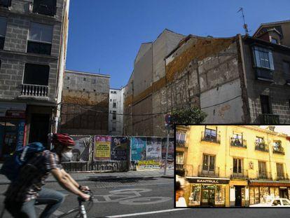 El edificio de San Bernardo, 48 ya no existe, pero sigue en el catálogo de elementos protegidos.