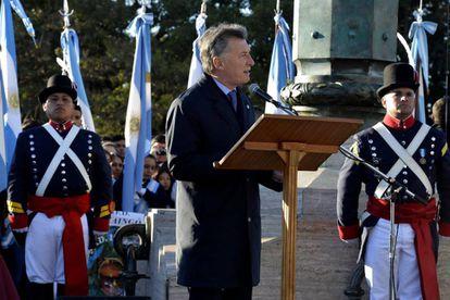 Mauricio Macri en Rosario, el 20 de junio.