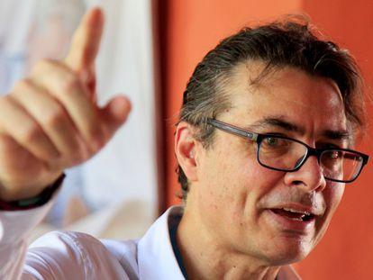 El exrector de la universidad de Los Ande, Alejandro Gaviria, durante el Hay Festival, en Cartagena, en 2020.