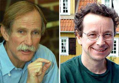 Peter Agre (izquierda) y Roderick MacKinnon.