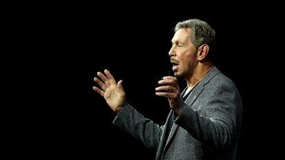 Larry Ellison, cofundador de Orable durante una presentación en San Francisco en octubre de 2018.