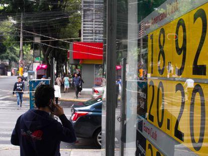 Una casa de cambio, en la Ciudad de México a finales de junio.
