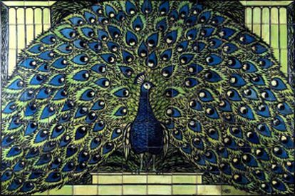 'Pavo real', del alemán Max Laeuger (1908-1910).