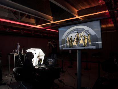 Digitalización del patrimonio catalán en 3D gracias al programa Giravolt, como las figuras del 'Descendimiento de Erill la Vall'.