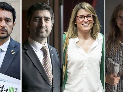 Damià Calvet,Jordi Puigneró, Elsa Artadi y Laura Borràs.