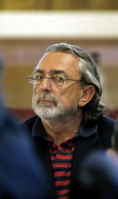 Correa, presunto líder de la trama Gürtel, durante la sesión del juicio de hoy.