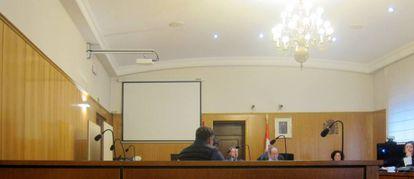 El condenado, durante el juicio en la Audiencia Provincial de Valladolid.