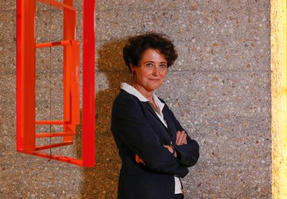 La genetista Edith Heard, directora del Laboratorio Europeo de Biología Molecular, en un hotel de Madrid antes de la entrevista.