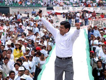 Mario Marín, durante su campaña para la gubernatura de Puebla en 2004.