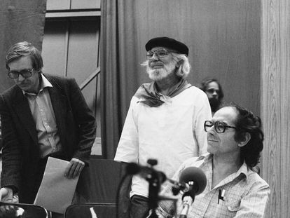 Ernesto Cardenal en Alemania el 10 de Junio 1983.