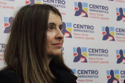 La senadora del Centro Democrático Paloma Valencia, en una foto del partido.