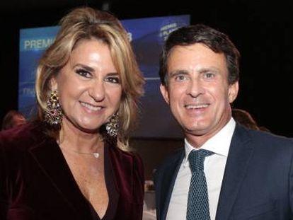 Susana Gallardo y Manuel Valls en la gala del Premio Planeta en Barcelona, en octubre de 2018.