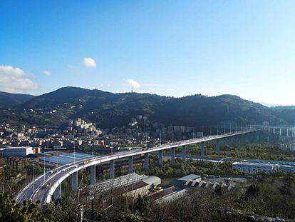 Representación fotorrealista del futuro viaducto de Génova.