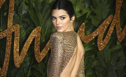 Kendall Jenner en los Premios de la Moda Británica, en Londres, el pasado lunes.