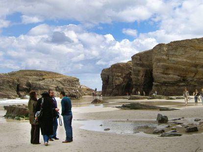 Playa de As Catedrais en Ribadeo (Lugo).