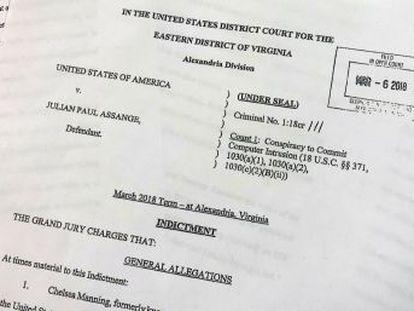 El fundador de Wikileaks se enfrenta a cinco años de cárcel por haber ayudado al entonces soldado Chelsea Manning a  hackear  ordenadores en 2010