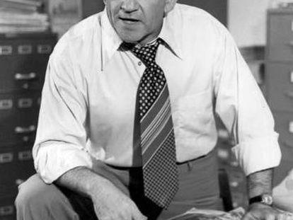 Ed Asner interpretando a Lou Grant.