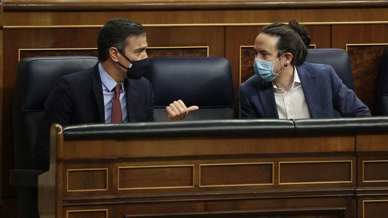 El presidente del Gobierno, Pedro Sánchez; y el vicepresidente segundo Pablo Iglesias.