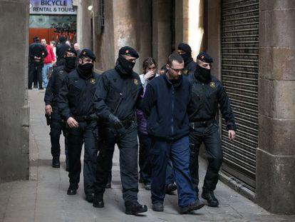 El catalán Baby White, cuando fue detenido el 11 de marzo.