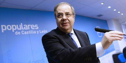 Juan Vicente Herrera, presidente del PP de Castilla y León en una foto de archivo.