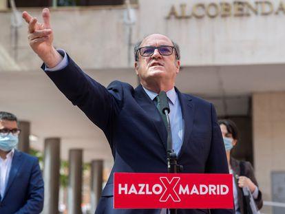El candidato del PSOE a la presidencia de la Comunidad de Madrid, Ángel Gabilondo, el lunes en Alcobendas.