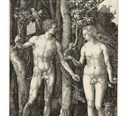 Adán y Eva, grabado de Durero.