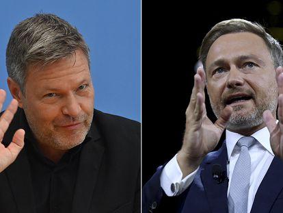 Robert Habeck (izquierda), de Los Verdes, y Christian Lindner, del FDP. AFP / REUTERS