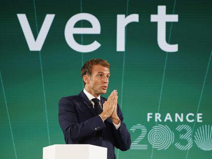 El presidente francés, Emmanuel Macron, presenta su plan de inversiones el martes en el palacio del Elíseo