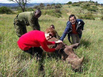 Los investigadores en Kenia.