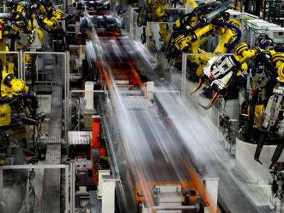 Línea de montaje de la fábrica de Seat en Martorell (Barcelona).