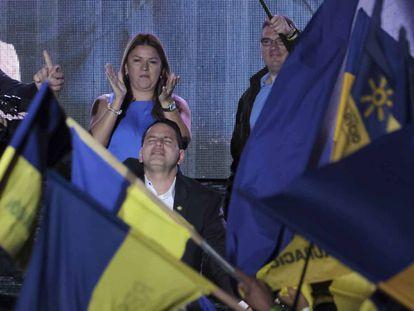 El candidato del evangélico Partido Restauración Nacional, Fabricio Alvarado,el pasado domingo tras reconocer su derrota en la segunda vuelta por la presidencia de Costa Rica.