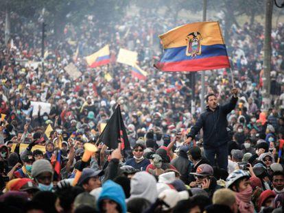 Protesta en Ecuador el pasado octubre.